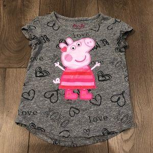 Peppa pig valentines shirt